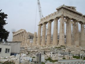 Greek Temple Under Construction